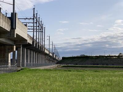 北陸新幹線と能越自動車道